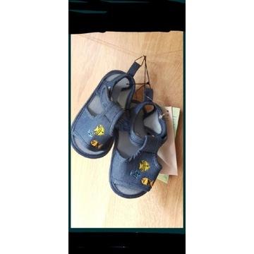 Nowe z metką sandałki sandały buty r.21 niebieskie