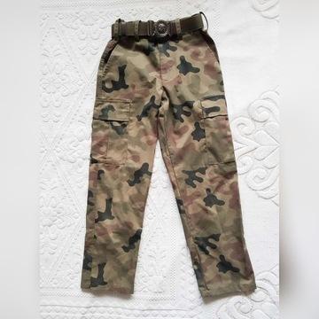 Spodnie bojówki dziecięce harcerskie + pasek ZHP