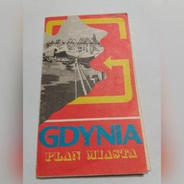 Plan miasta GDYNIA PPWK 1980