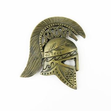 Magnes na lodówkę hełm gladiatora mosiądz