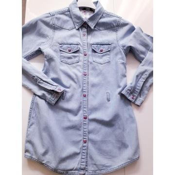 Tunika koszula dżinsowa dłuższa ZARA 146