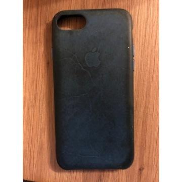 Etui iphone 7 leather case niebieski