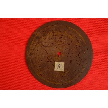 Płyta do polifonu 14,5cm Nr.8