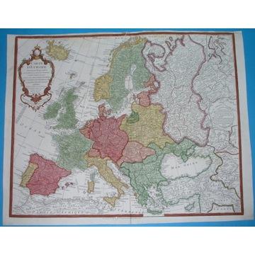 1782 MAPA EUROPA POLSKA WARSZAWA PRUSY ŚLĄSK KRESY