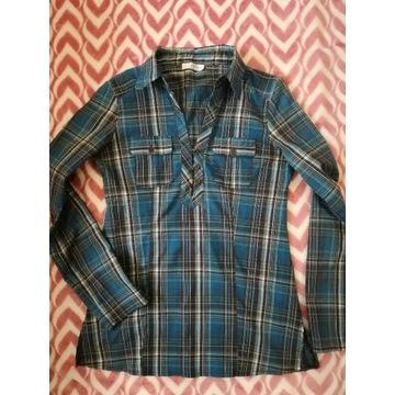 Bluzka, koszula w kratkę turkus M/L