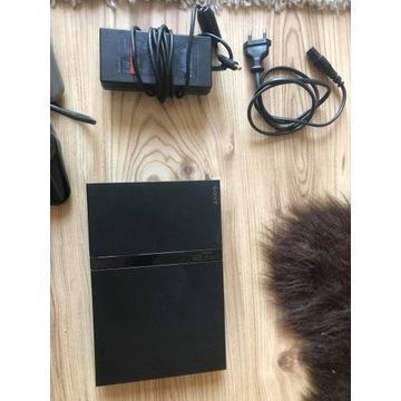 Konsola PlayStation 2 ps2+4pady+20gier,kierownica