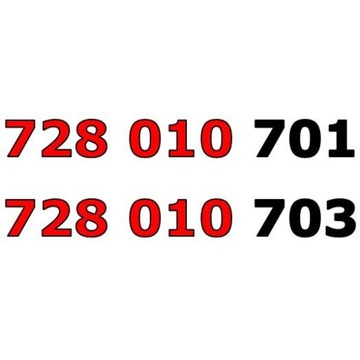 728 010 70x ŁATWY ZŁOTY NUMER STARTER PARA