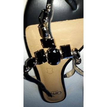 Caprice sandaly czarne nowe