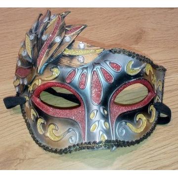 Maska wenecka papierowa Komplet 2 szt