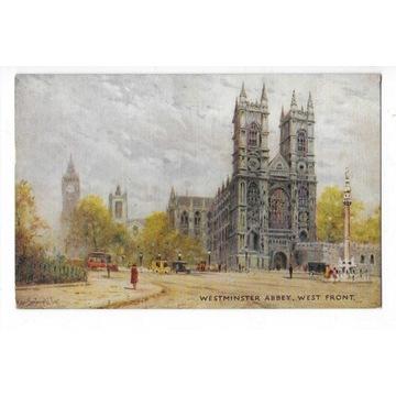 #T09 Londyn - Westminster Abbey. Tuck. Oilette