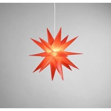 Gwiazda Wisząca LED Świecąca Czerwona