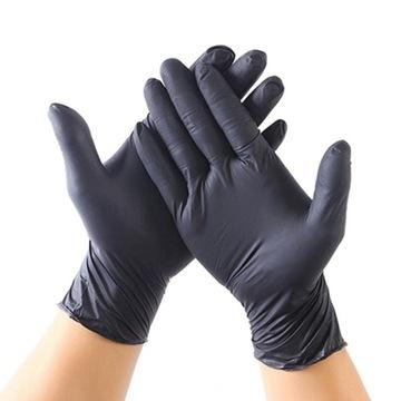 Nitrylowe mocne rękawiczki Black 5par