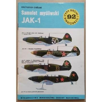 Samolot myśliwski Jak-1 Krzysztof Cieślak 1984