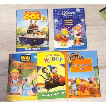 5 x Książki dla dzieci * Kubuś, Bob, Pat * DISNEY