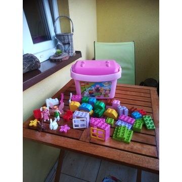 Klocki Lego Duplo różowey zestaw, króliczki.