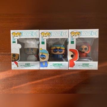 FUNKO POP - South Park - Chef, Cartman, Kenny