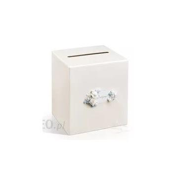 Pudełko na koperty weselne perłowe różyczki
