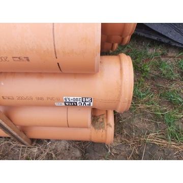Rury kanalizacyjne pcv fi 200 5,9mm