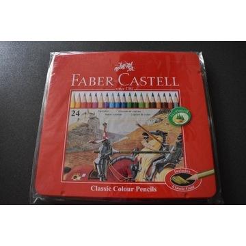 kredki ołówkowe Faber Castell 24szt RYCERZE metal