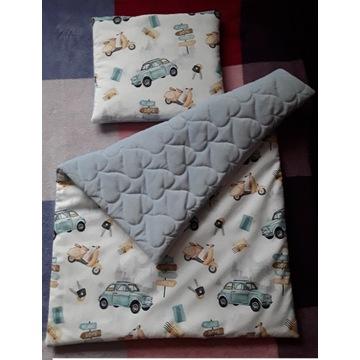 Poduszka kołderka z wypełnieniem bawełna velvet
