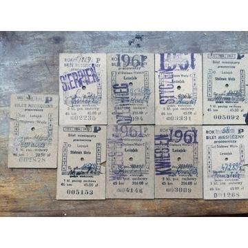 Stare bilety PKP Lezajsk
