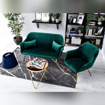 Lustrzany złoty stolik w kolorze miedzi i brązu