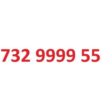 732 9999 55 starter play ładny złoty numer