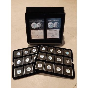 Zestaw 24 srebrne ćwierćdolarówki USA 25c Ag