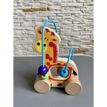 Drewniana żyrafa przekładanka pętla motoryczna