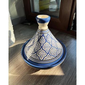 Ręcznie robiony tajine/tagine ceramiczny z Maroka