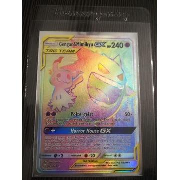 Karta Pokemon Gengar & Mimikyu GX 186/181