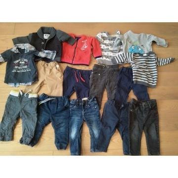 Zestaw spodni i bluz dla chłopca rozm 74