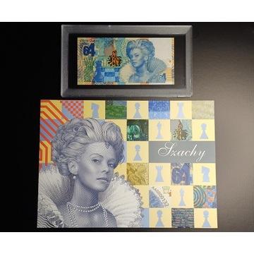 banknot Szachy PWPW AA0060607 UNC +folder+kapsuła