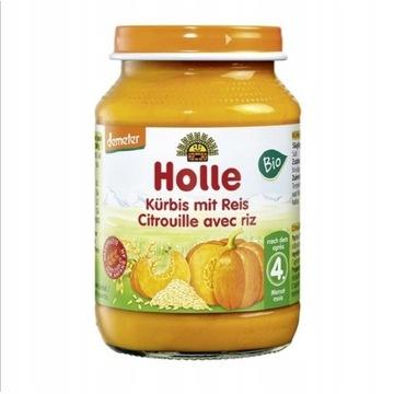 Holle BIO Dynia z ryżem 190g Wit. A B i E.