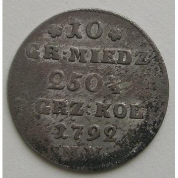 SAP, 10 GROSZY 1792 M.W. Stan 2.