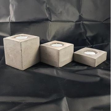 świecznik beton architektoniczny - komplet