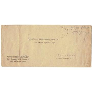 Poronin (Nowy Targ) - koperta z 1946 r., opł. got.