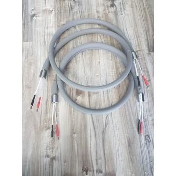 Kable głośnikowe - srebro 2x1.9m