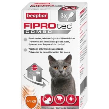 FIPROtec Combo kleszcze Kot (3x0,5ml ) -70% !