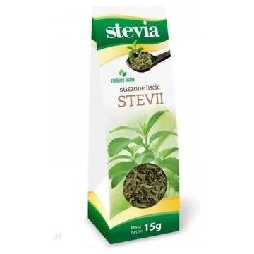 Stevia = stewia: suszone liście 15g (lub proszek)