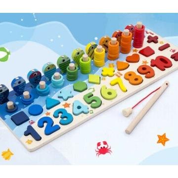 Zabawka Montesorii edukacyjna Fish&Count