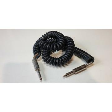 Przewód audio spiralny duży jack 6,3 mm mono