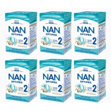 Nestle NanOptipro 2 mleko następne 6x800 g