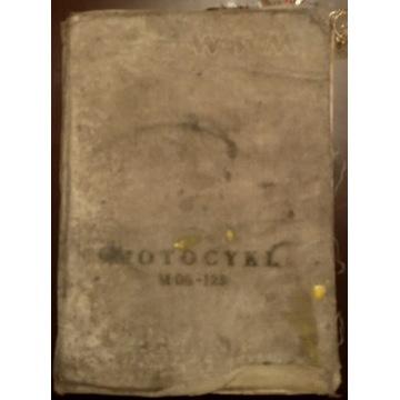 Motocykl WFM M-06 - 125 1957r wyd. III