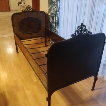 Łóżka metalowe w stylu secesyjnym - antyk.