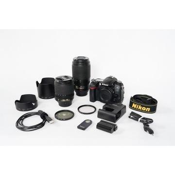 Aparat Nikon D7000 + 18-105, 70-300 VR + gratisy