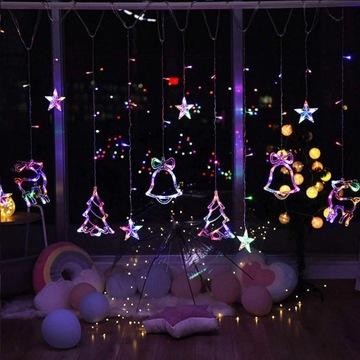 RENIFERKI CHOINKI - lampki LED 2,5m GIRLANDA PRĄD