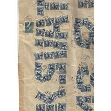 Czeska koperta oklejona znaczkami