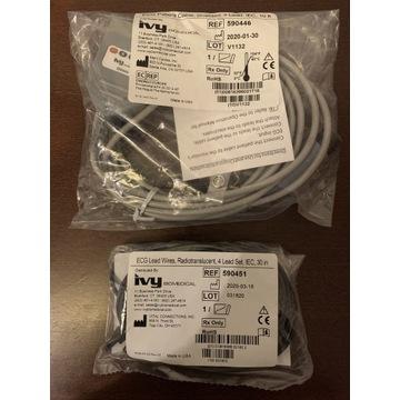 ECG IVY 7800 komplet kabli pacjenta