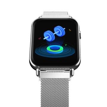 Smartwatch z pomiarem saturacji krwi, pulsoksymetr